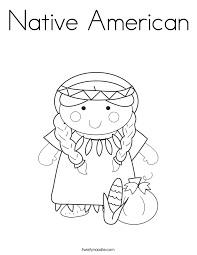 Small Picture Native American Coloring Page Twisty Noodle