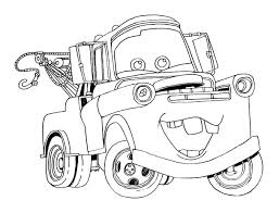 Small Picture Printable Disney Cars Tow Mater Coloring Pages EVERY COLORING