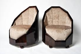 Art deco furniture Wood More Views Ebay Pair Of Art Deco Style Cocoon Chairs Furniture