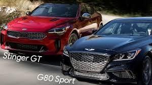 2018 kia genesis. fine 2018 2018 genesis g80 sport vs kia stinger gt  see the diffirence with kia genesis