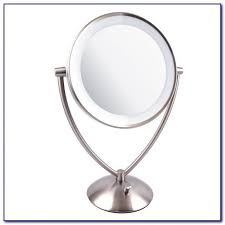 large lighted tabletop vanity mirror tabletop home design