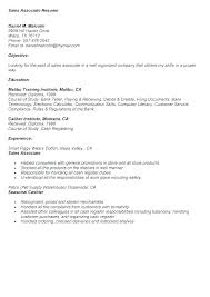 Resume Samples For Retail Sales Retail Resume Template Free Samples ...
