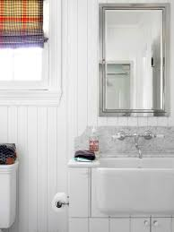 Country bathroom ideas for small bathrooms Bathroom Designs White Country Bathroom With Marble Backsplash Klopiinfo Ways To Tackle Storage In Tiny Bathroom Hgtvs Decorating