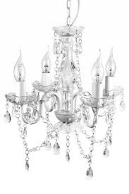 a2s gypsy crystal chandelier small white 4 arm h18 w15 acrylic crystals solid iron design boho chic style
