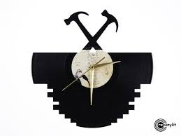 pink floyd vinyl record clock wall classic rock mancave decor revinylit original