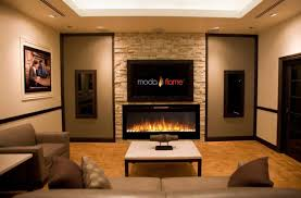 electric fireplace  contemporary  closed hearth  builtin