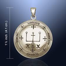 sigil of the archangel raphael bronze pendant amulet jls2820
