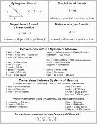 8 Grade Math Formula Chart 5 377x484 Math Worksheet For 8th Grade Conversions Www