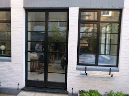 sterling windows and doors replacement black replacement steel windows and french doors in art deco style