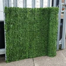 evergreen artificial conifer hedge