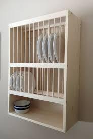 modern wood plate rack