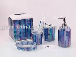 frosted glass bathroom accessories. General : Charming Blue Glass Bathroom Accessories Frosted ~ TheCupboard