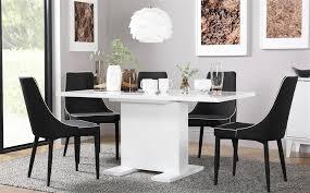 osaka amp modena extending white high gloss dining