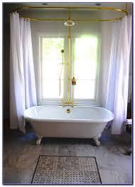 diy clawfoot tub shower curtain rod page best