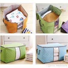 2018 Quilt Storage Bag Clothes Packing Sack Blanket Pillow Case ... & 2018 Quilt Storage Bag Clothes Packing Sack Blanket Pillow Case Paper  Handle Underbed Storages Bins Handle Plaid Eco Friendly Chest Home 4 05ot E  From ... Adamdwight.com