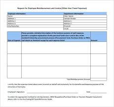 15 Expense Reimbursement Form Sample Paystub