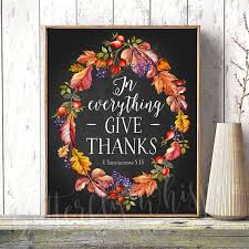 downloadable thanksgiving pictures 1 thessalonians 5 18 thanksgiving decorations downloadable etsy