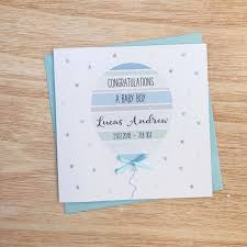 Personalised New Baby Boy Card Baby Boy Card Personalised New Baby Card Personalised Baby Cards New Baby Card