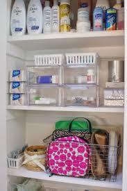 Organized Bathroom Supply Cabinet