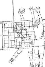 Volleyball Color Pages Realistic Coloring Page Of Volleyball Download Print Online