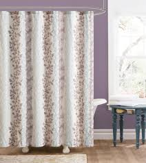 brown fabric shower curtains. Brown Embossed Fabric Shower Curtain: Floral And Trellis Design. Image 1 Curtains A