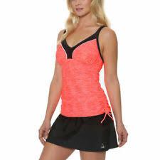Gerry Womens 2 Piece Colorblock Tankini Skort Swimsuit