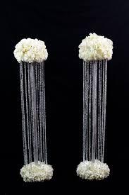 wedding aisle pillars
