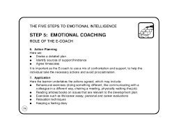 the emotional intelligence pocketbook  78 the five steps to emotional intelligence