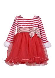 Bonnie Jean Plus Size Chart Details About Bonnie Jean Baby Girl 12m Red Stripe Mesh Santa Holiday Dress Nwt