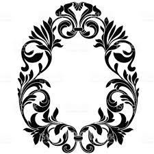 vintage frame design oval. Oval Vintage Border Frame Engraving With Retro Ornament Pattern In Antique Baroque Style Decorative Design. Design T