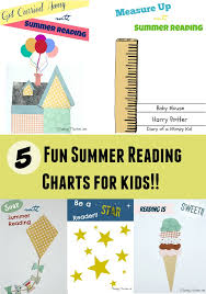 School Charts Ideas 5 Fun Summer Reading Charts For Kids Planning Playtime
