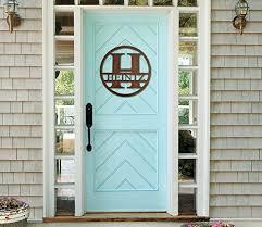 front door monogramAmazoncom Monogram Front Door Circle Last Name initial Door
