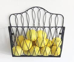wall mount storage rack holder fruit basket home kitchen organizer