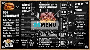 Chalkboard Menu Board Barbecue Chalk Menu Board Design Template For Testaurant