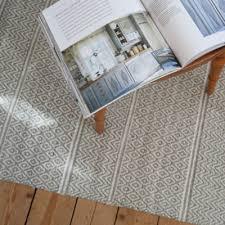 light green patterned cotton rag rug