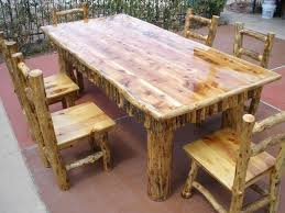 6 foot dining table 7 foot dining table cedar top with 6 chairs sold for 6