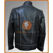 men s black rivet biker leather jacket men s leather jacket