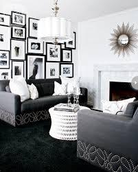 10 living rooms black white 3