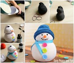 no sew sock snowman craft for your little ones