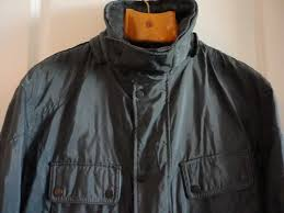 belstaff gold label gray nylon leather trim jacket coat xl made in italy belstaff motorcycle
