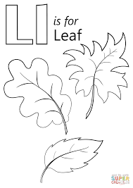 Letter L Is For Leaf Coloring Page Free Printable Coloring Pages
