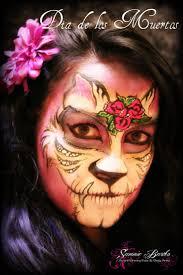 sugar skull face painting by sammie bartko dia de los muertos