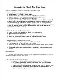 an example essay on the giver essay words home uncategorized essay questions the giver