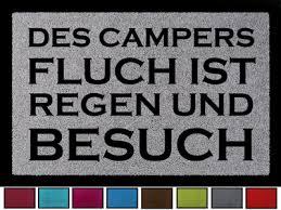 Fussmatte Schmutzmatte Des Campers Fluch Lustig Camping Wohnwagen
