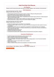 Desk Clerk Resumes Hotel Front Desk Clerk Resume Great Sample Resume