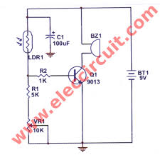 simple wiring diagram of refrigerator simple image simple refrigerator door alarm circuit eleccircuit com on simple wiring diagram of refrigerator