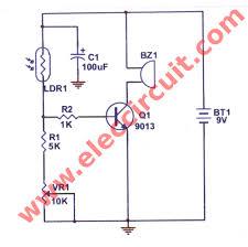 simple refrigerator door alarm circuit eleccircuit com Simple Alarm Circuit Diagram refrigerator door detector alarm circuit simple alarm circuit diagram with relay