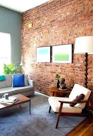 decoration soft blue living room rug exposed brick wall ideas