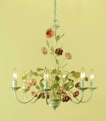pink chandelier lighting room rose 6 light chandelier hand painted with cream finish hot pink chandelier