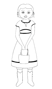 American Girl Doll Coloring Sheets Girl Doll Coloring Pages To Print